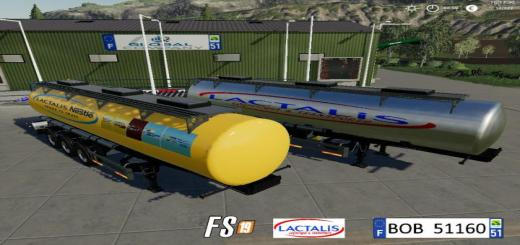 Photo of FS19 – Milk Lactalis Trailer V1.9