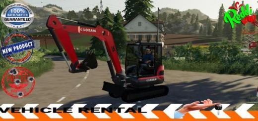 Photo of FS19 – Mini Excavator Loxam V1.5