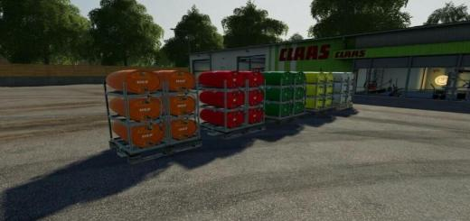 Photo of FS19 – Pallets With Barrels V2