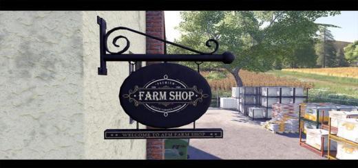 Photo of FS19 – Placeable Farm Shop V1.0.0.1