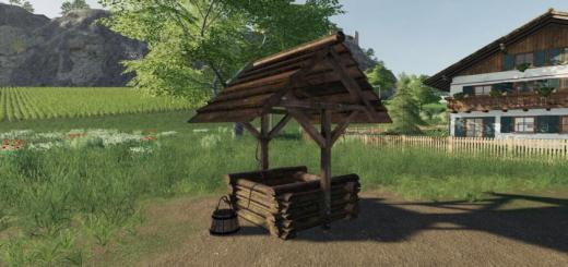 Photo of FS19 – Placeable Woodenfountain V1