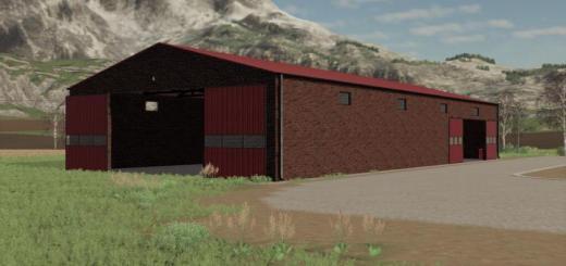 Photo of FS19 – Red Brick Garage V1