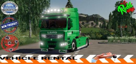 Photo of FS19 – Renault Premium Rental Laho V1.5