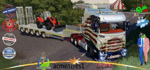 Photo of FS19 – Scania R1000 Usa United V1.5
