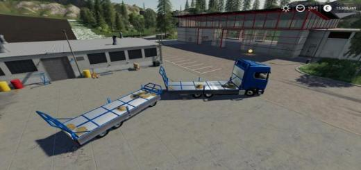 Photo of FS19 – Trailer 3 Axle With Platform V1.1.0.2