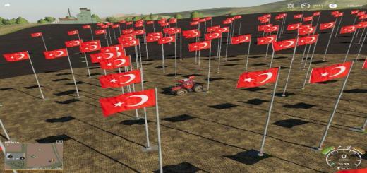 Photo of FS19 – Turkish Flag V1.5