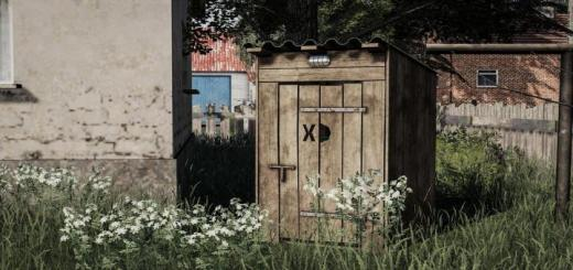 Photo of FS19 – Wooden Toilet V1