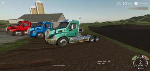 Photo of FS19 – Freightliner Cascadia Day Cab Glider V1.01