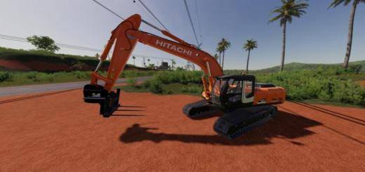 Photo of FS19 – Hitachi Zx290Lc Bale Forks V1.0.1