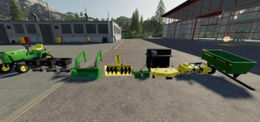 Photo of FS19 – John Deere 332 Lawn Tractor With Lawn Mower And Garden V2