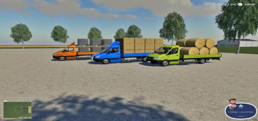 Photo of FS19 – Mercedes Sprinter Pickup V1.2
