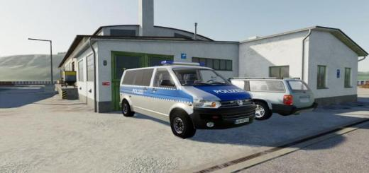 Photo of FS19 – Volkswagen T5 Police And Customs With Universal Passenger V2