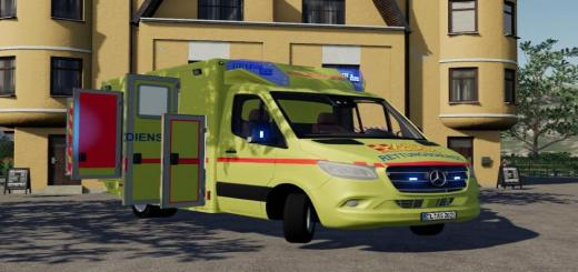 Photo of FS19 – Asb Mercedes Sprinter Rtw Skin V1