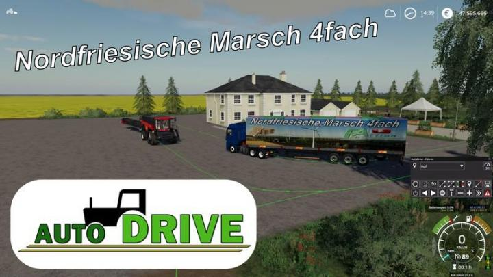 FS19 - Autodrive Route Network Nf March 4-Way With Trenches V2
