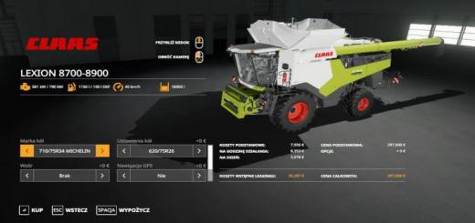 Photo of FS19 – Claas Lexion 8700-8900 Harvester V1