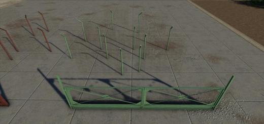 Photo of FS19 – Concrete And Metal Fences Pack V1.1