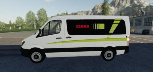 Photo of FS19 – Mercedes Sprinter Claas Service V1.5