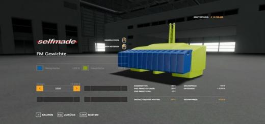 Photo of FS19 – Xxl Weights Pack V2.1
