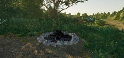 Photo of FS19 – Camp Fire (Prefab) V1