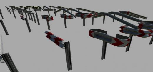 Photo of FS19 – Crash Barriers A Profil Set (Prefab) V1