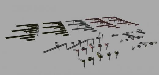 Photo of FS19 – Crash Barriers B Profil Set (Prefab) V1