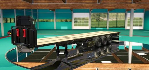 Photo of FS19 – Flatbed Holland Style Trailer V1