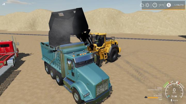 FS19 - Kenworth T800 Dump Truck V1.0.0.2