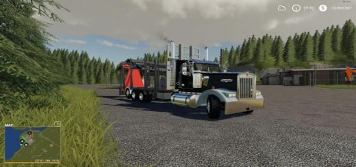 Photo of FS19 – Kenworth W900 Rear Mounted Loader V1