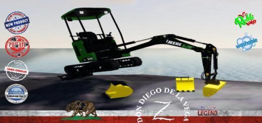 Photo of FS19 – Mini Excavator Deere 26C V1.5