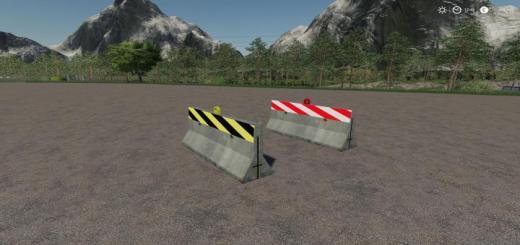 Photo of FS19 – Road Barrier Pack V1.1