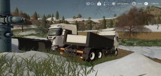 Photo of FS19 – Scania Tipper With Plow V2.0.2.0