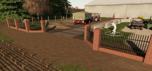 Photo of FS19 – Brick And Metal Fences Pack V1