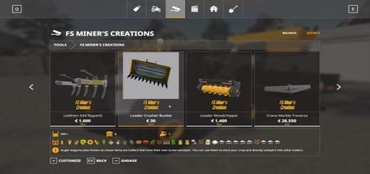 Photo of FS19 – Crusher Bucket For Wheeled Loaders V1.1