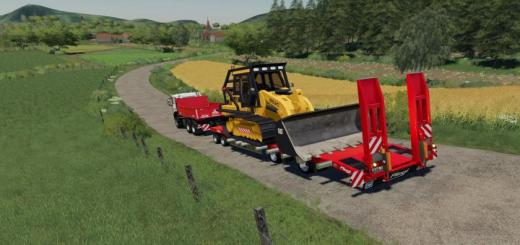 Photo of FS19 – Fliegl Lowbody With Extensions V1