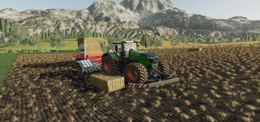 Photo of FS19 – Homemade Bale Pusher V1