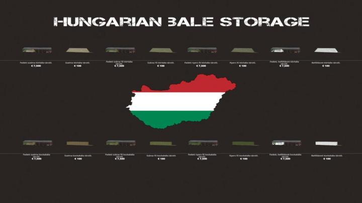 FS19 - Hungarian Bale Storage Pack V1
