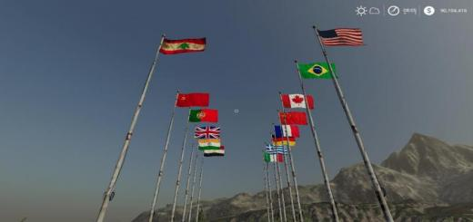 Photo of FS19 – International Flags V1