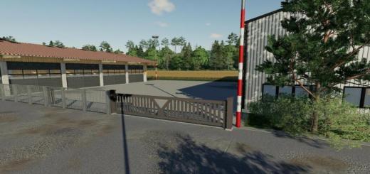 Photo of FS19 – Large Sliding Gate V1