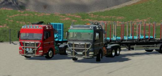 Photo of FS19 – Man Tgx Forest Semitrailer Pack V1.1