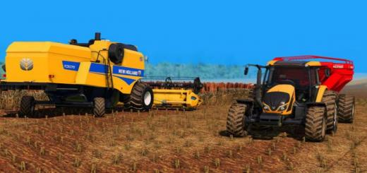 Photo of FS19 – New Holland Tc 5070 And Varifeed 20Ft V1