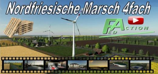 Photo of FS19 – North Frisian March 4X Map V2.1
