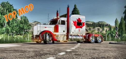 Photo of FS19 – Peterbilt 388 Canada Truck V2