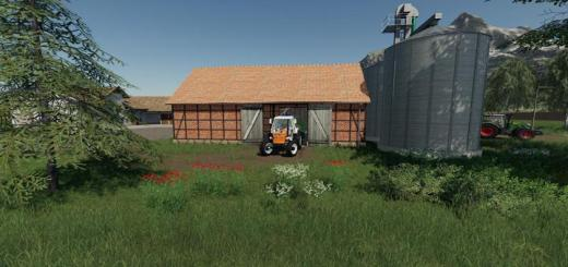 Photo of FS19 – Placeable Barn With Silos V1.1
