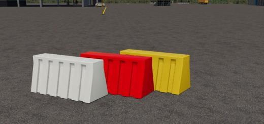 Photo of FS19 – Plastic Road Barrier Pack V2