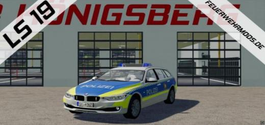 Photo of FS19 – Police Bmw 318 D Of The Police Schleswig Holstein V1