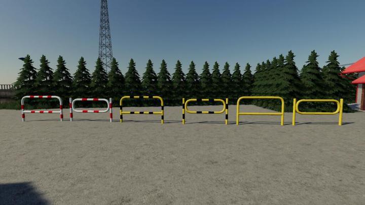 FS19 - Polish Barrier Pack Prefab V1