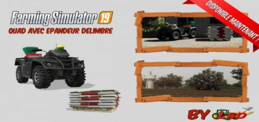 Photo of FS19 – Quad With Delimbre Spreader V1