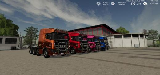 Photo of FS19 – Scania Heavy Hauler 8X4 Multicolor Update V1.1