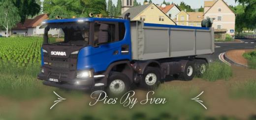 Photo of FS19 – Scania Xt 8X8 Kipper V1