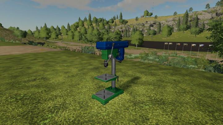 FS19 - Bench Drill And Grill Pack V1